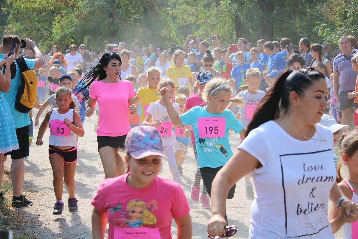 В Никополе провели детский марафон «Ніжки і доріжки»