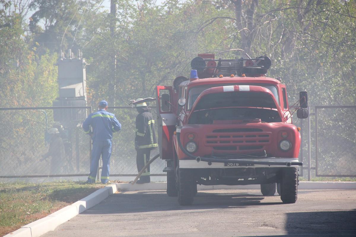 Пожар в центральной части города