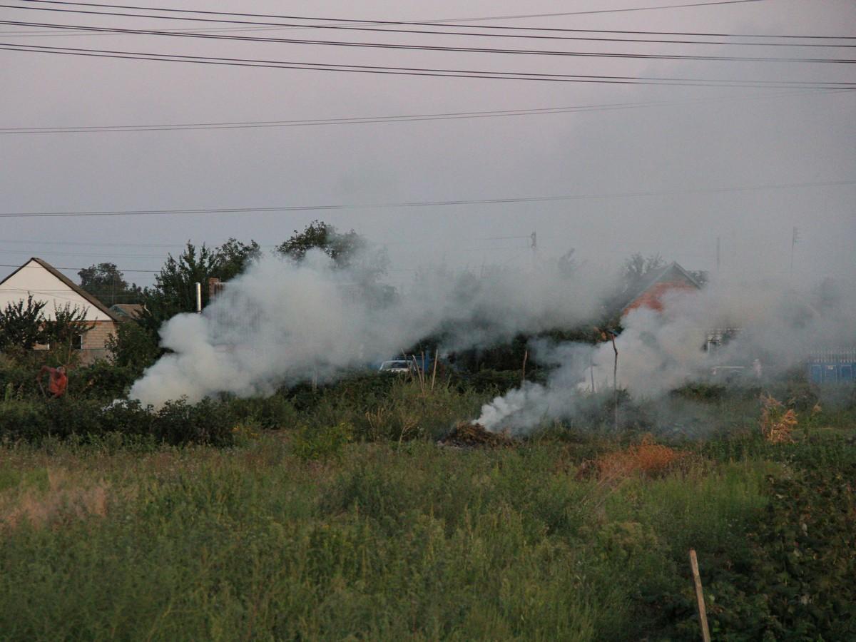 Пригород в дыму начиная с августа