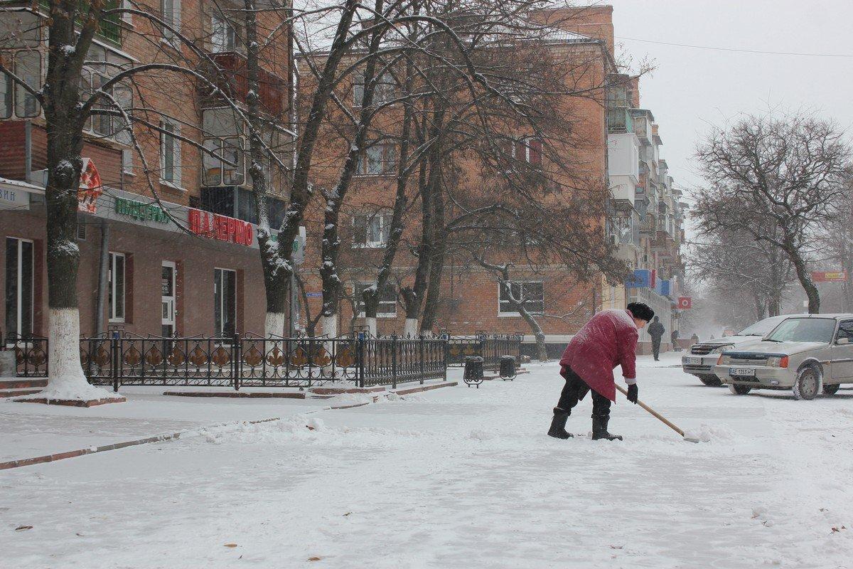 Заснеженный Никополь - 15 января 2018 года