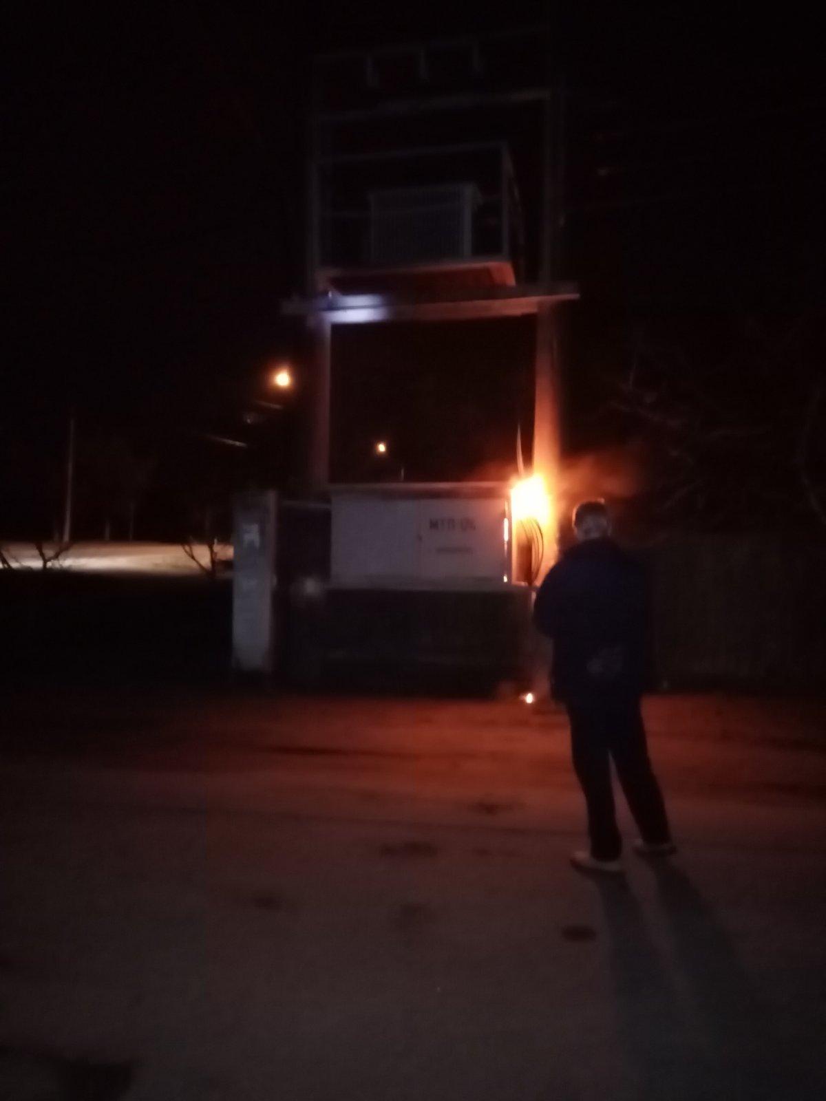 В Никополе горела трансформаторная будка: один из районов остался без света