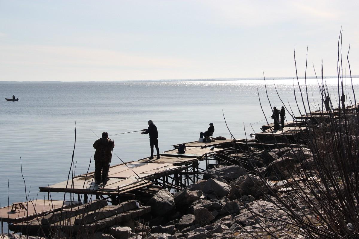 Рыбаки заняты любимым делом
