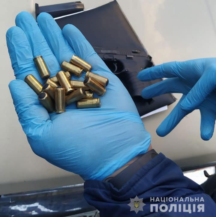 Стартовый пистолет, переделанный под гладкоствольное огнестрельное оружие