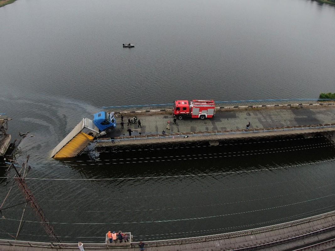 Как выглядит разрушенный Алексеевский мост
