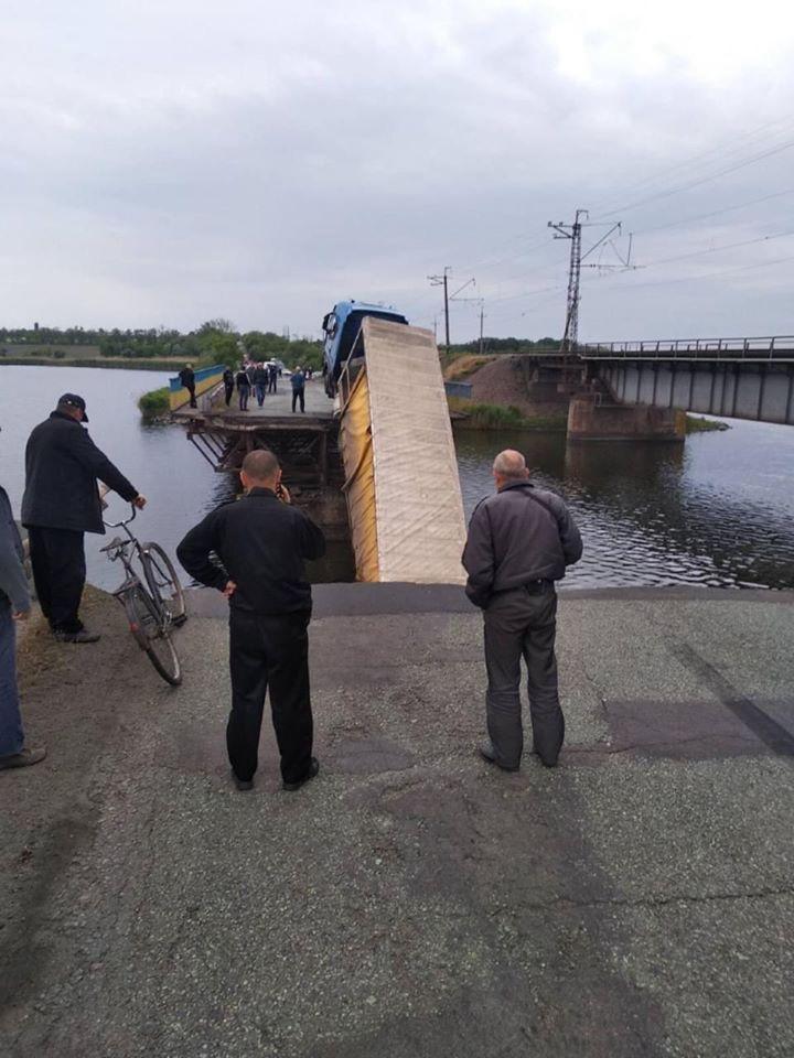В селе Алексеевка Никопольского района обрушился мост