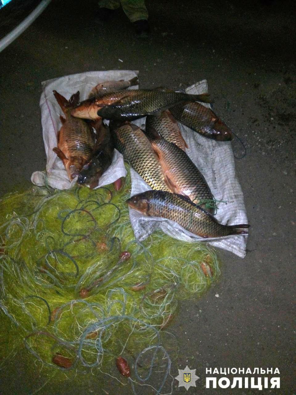 На берегу Каховского водохранилища поймали браконьера