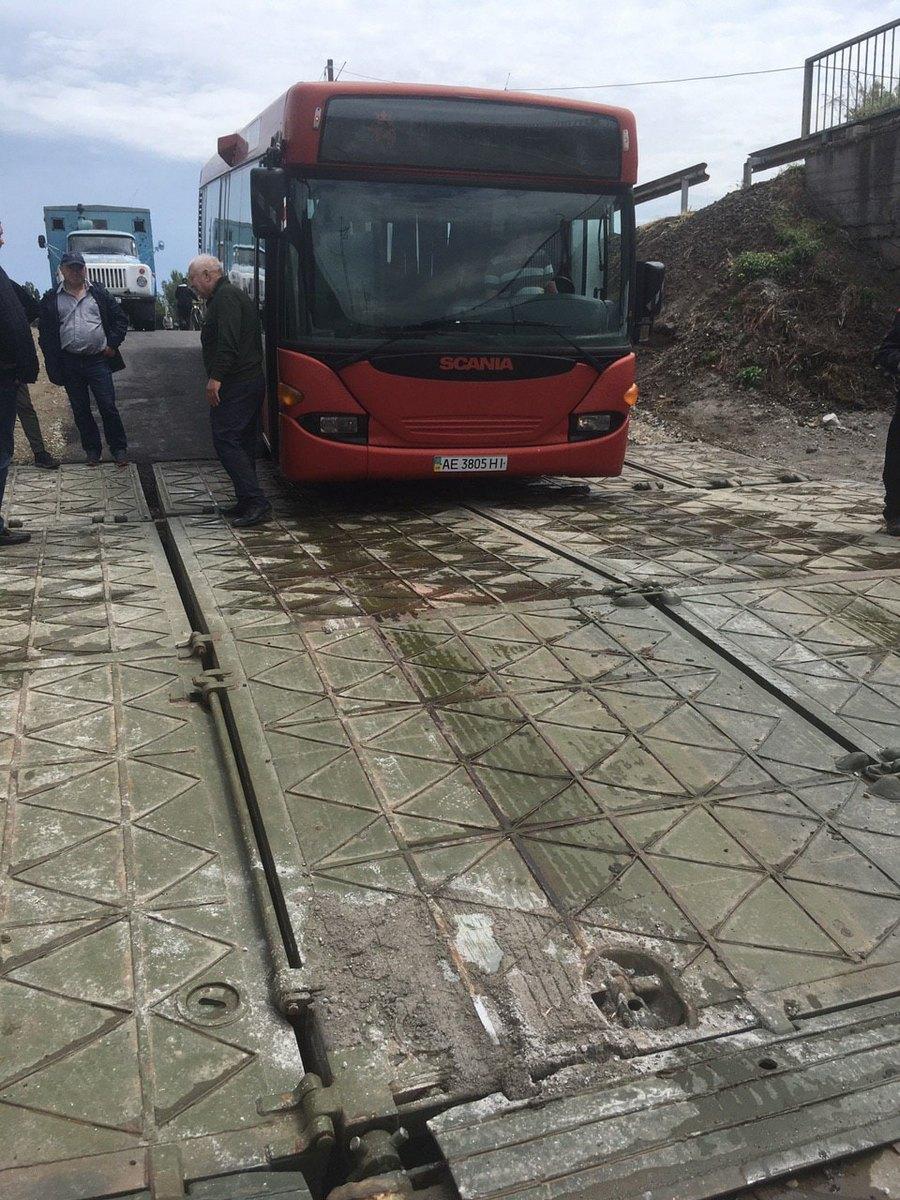 Автобусы не проходят, упал уровень воды