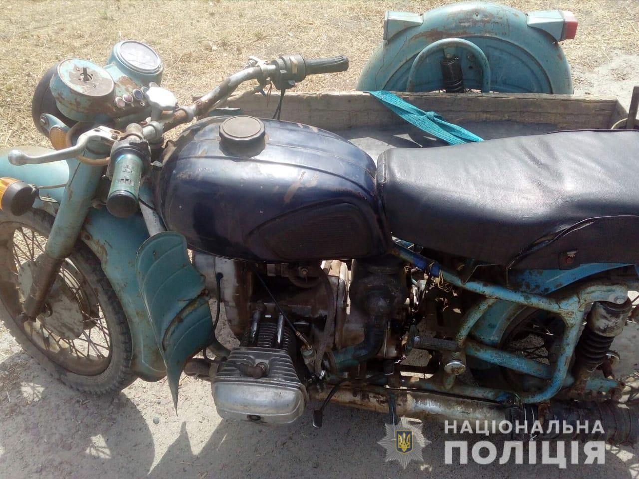 В Томаковском районе полицейские вернули владельцу угнанный мотоцикл
