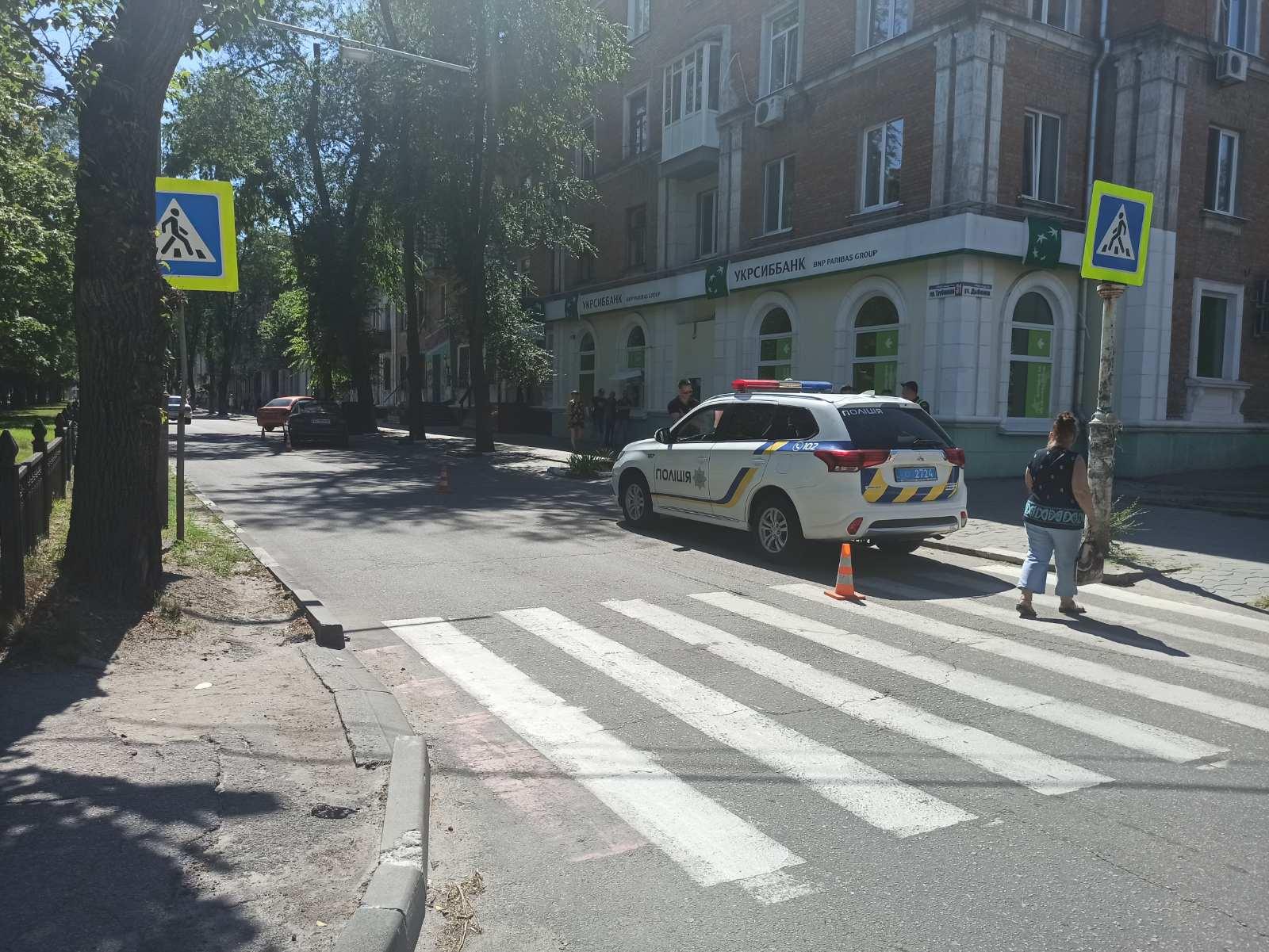 В Никополе на пешеходном переходе автомобиль Opel сбил женщину с двумя собаками