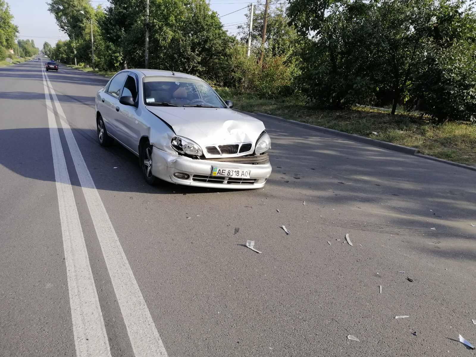 В Никополе на дороге столкнулись Daewoo Lanos и Renault Logan
