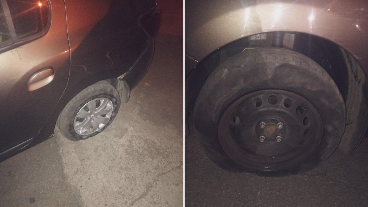 В Никополе водитель Renault снес шлагбаум на АЗС