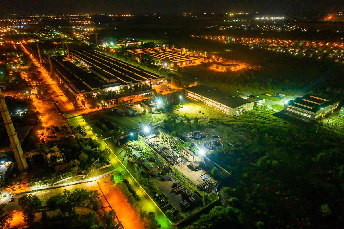Как выглядит ночной Никополь с высоты