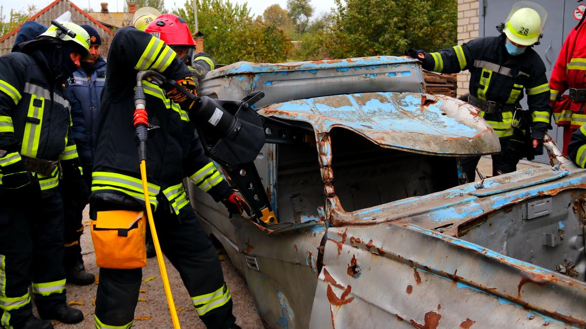 Действия спасателей при ДТП