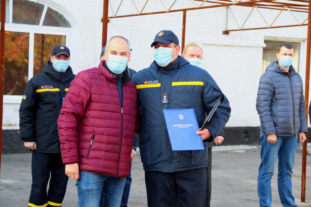 В Никополе за тушение пожаров в экосистемах отметили пять сотрудников ГСЧС , фото-13
