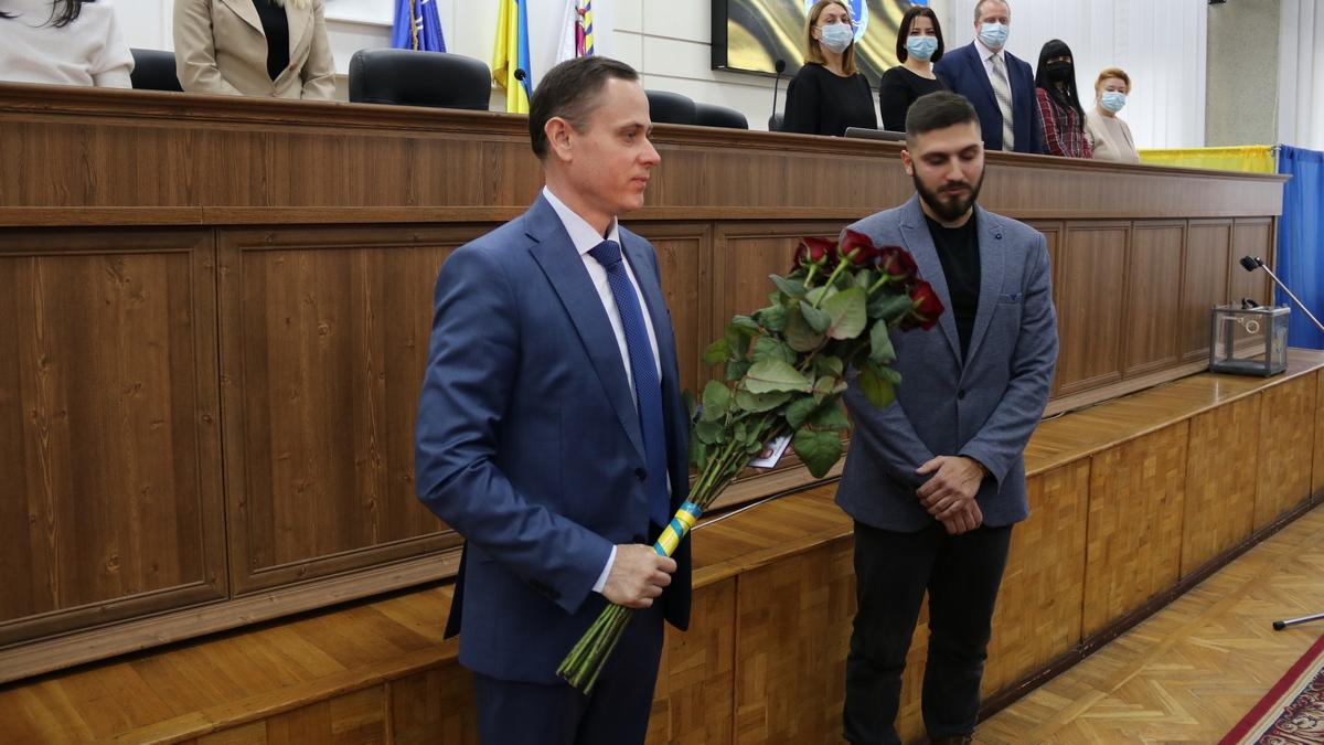 Мэр Никополя Александр Саюк