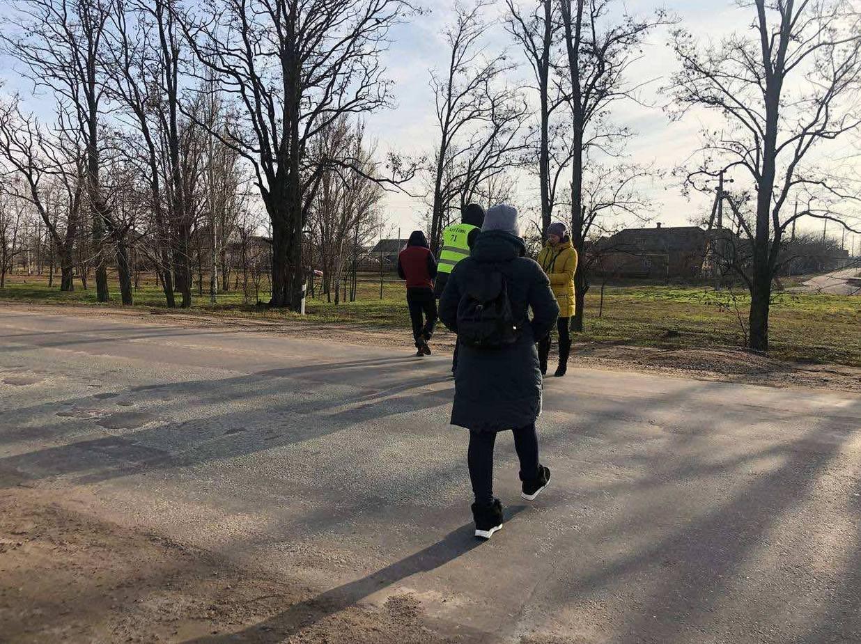 Под Никополем активисты перекрыли трассу междугородного значения