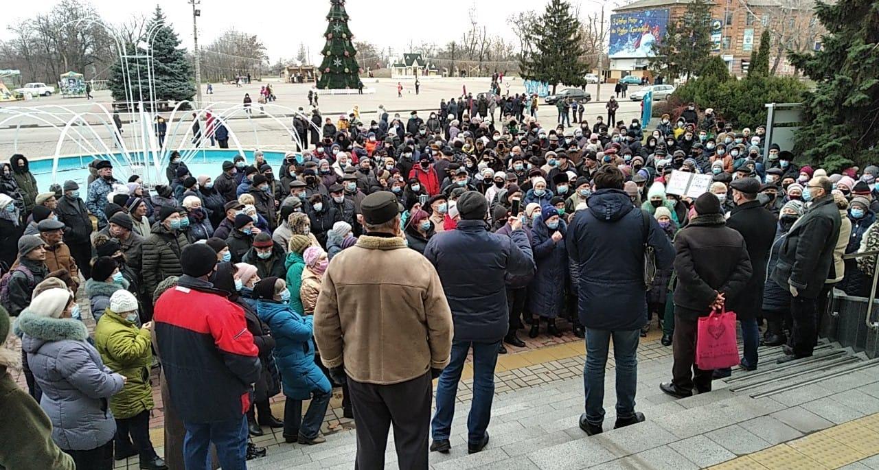 Никопольчане объединились с жителями Марганца и одновременно провели митинг