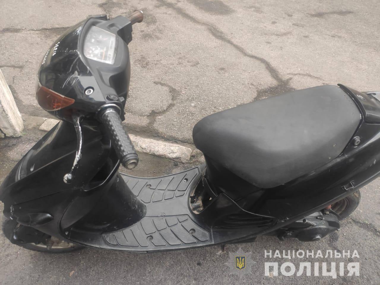 В Никополе 29-летний мужчина похитил со двора знакомого скутер Suzuki