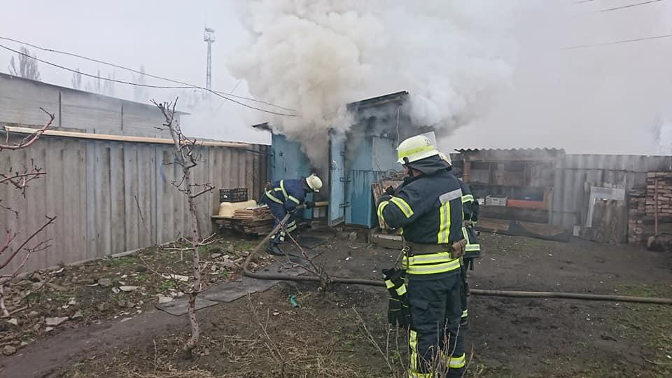В Никополе на улице Севастопольская горела хозпостройка