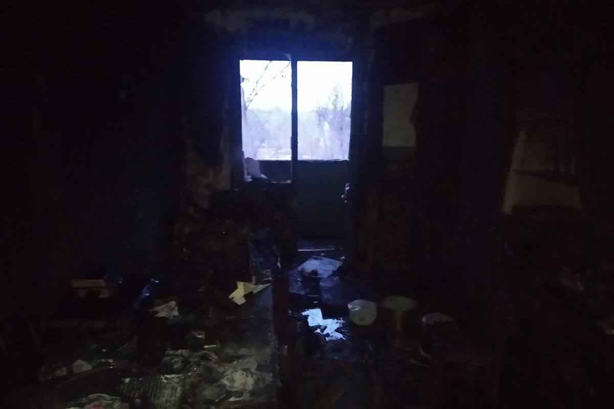 В Покрове во время пожара пострадал 54-летний мужчина