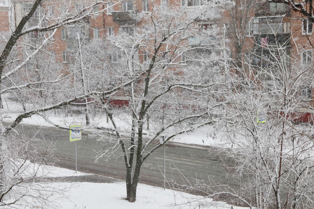 Снег в начале Марта