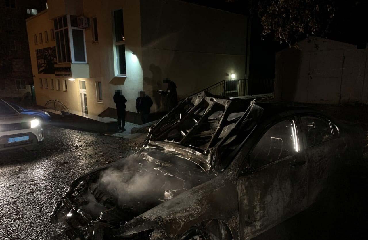 На улице Шевченко горел автомобиль Honda