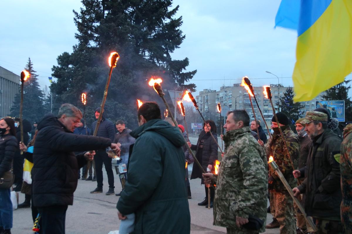 Как Никополь отметил День украинского добровольца