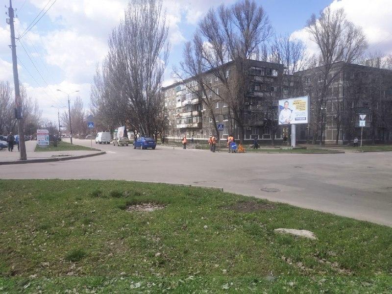 В Никополе улица Некрасова стала чище