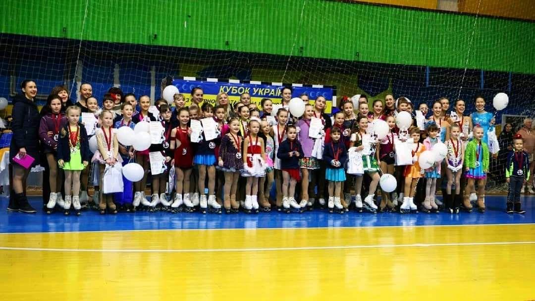 Участники I этапа Кубка Украины по фигурному катанию на роликовых коньках