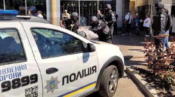 Задержание преступников в центре города