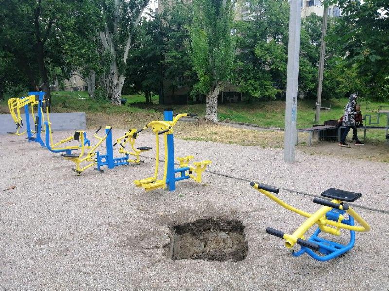Тренажеры установили на подвальных пустотах