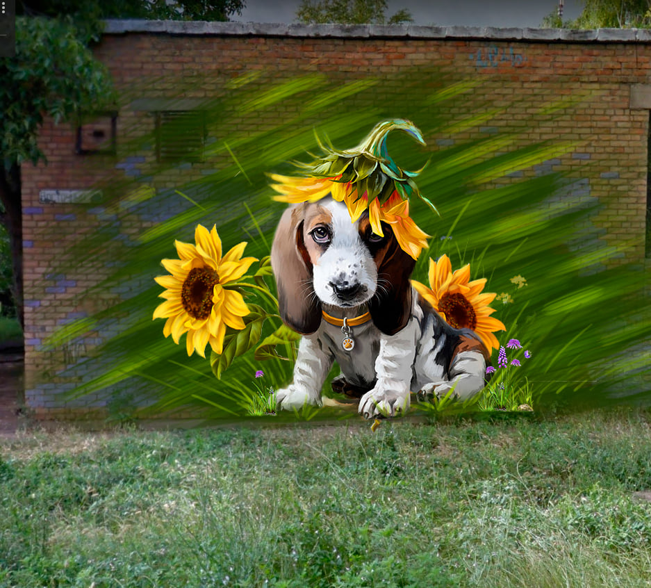 У Марганці зявиться миле графіті собаки