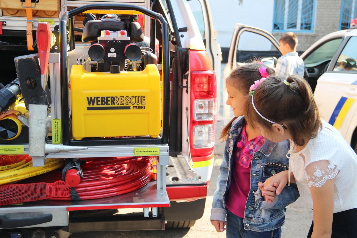 Школьникам продемонстрировали возможности спасательной техники