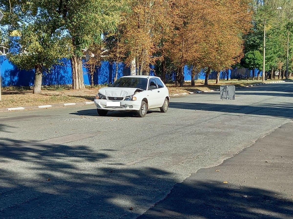 В Никополе на пересечении улиц Патриотов Украины - Минина случилось ДТП