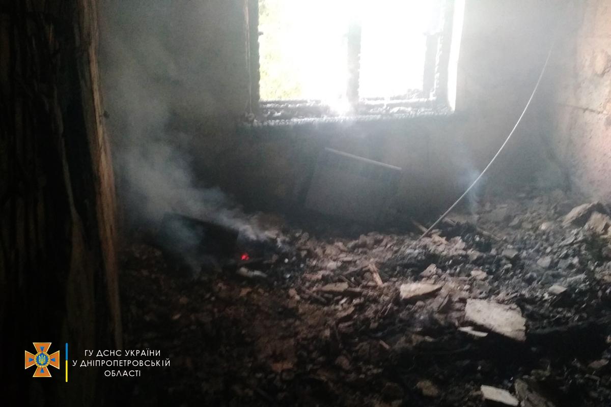 В результате пожара погибших и пострадавших нет