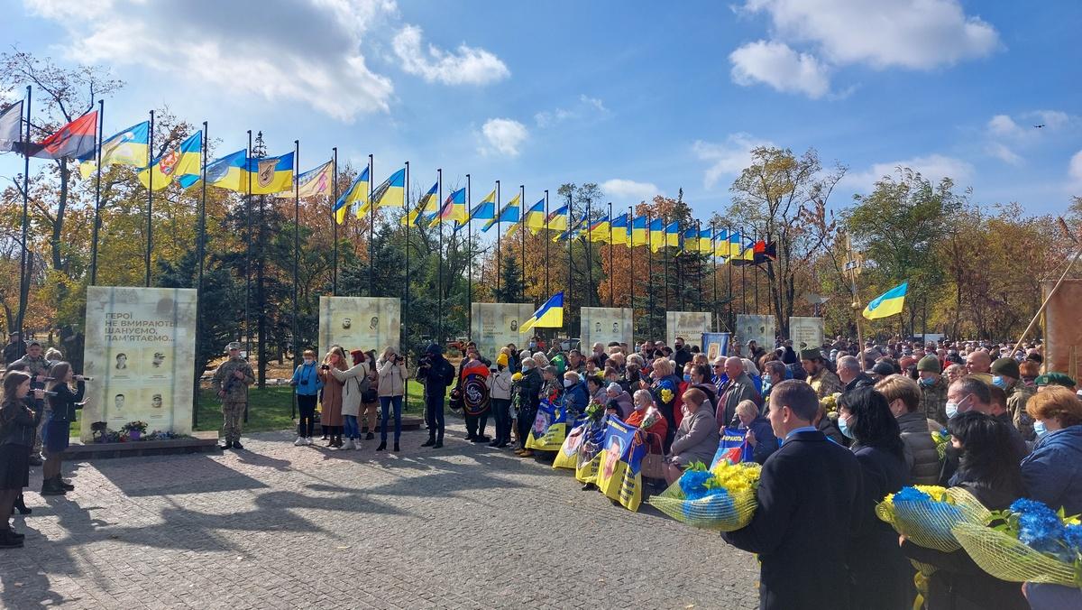 В Никополе открыли Аллею славы героев АТО
